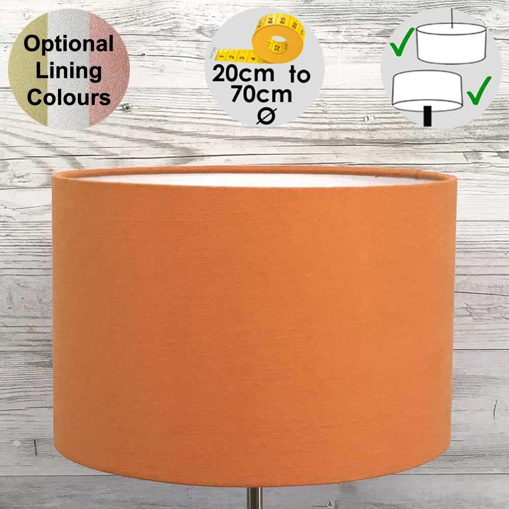 Aura Orange Drum Table Lampshade